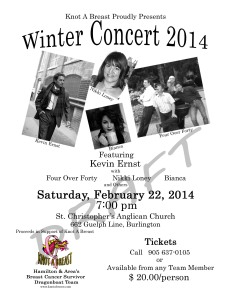 KAB Concert Poster FEB 22 2014